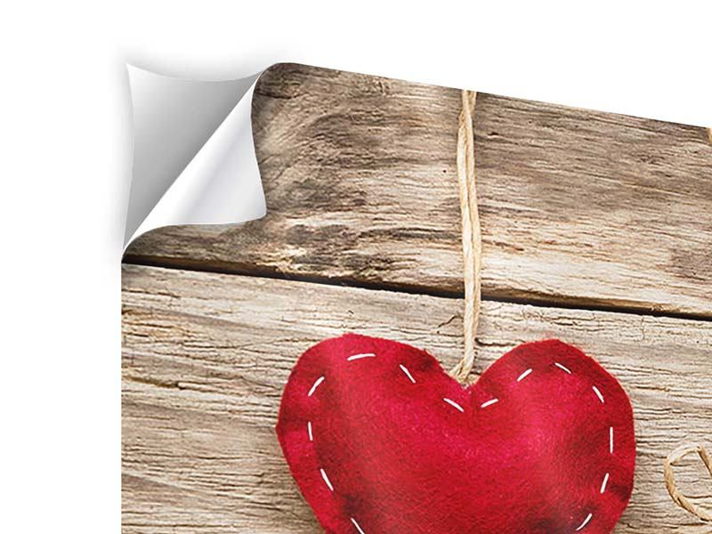 Klebeposter Herzromantik
