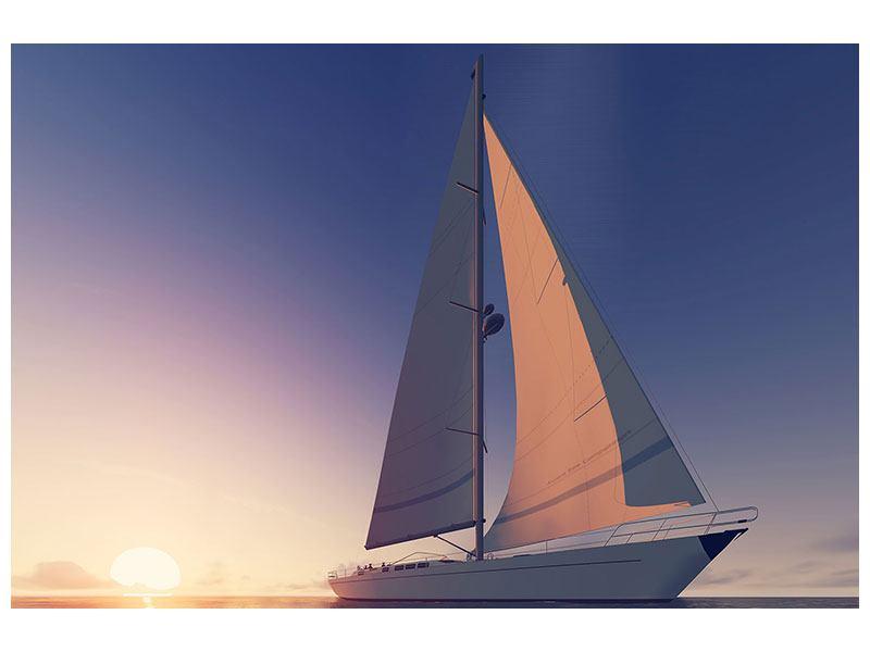 Klebeposter Das Segelschiff