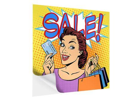 Klebeposter Pop Art Sale