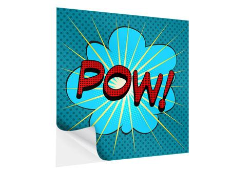 Klebeposter Pop Art Pow