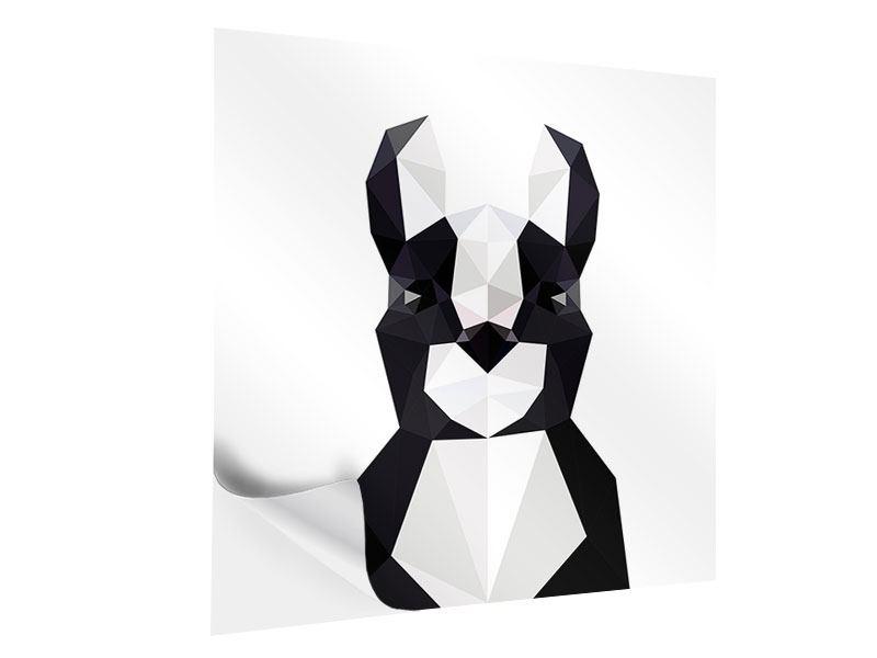 Klebeposter Origami Bulldogge
