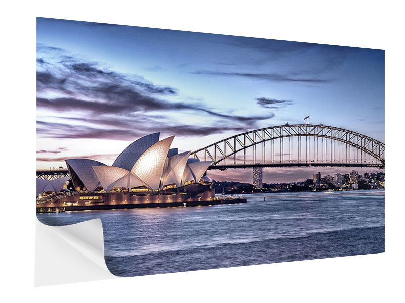 Klebeposter Skyline Sydney Opera House