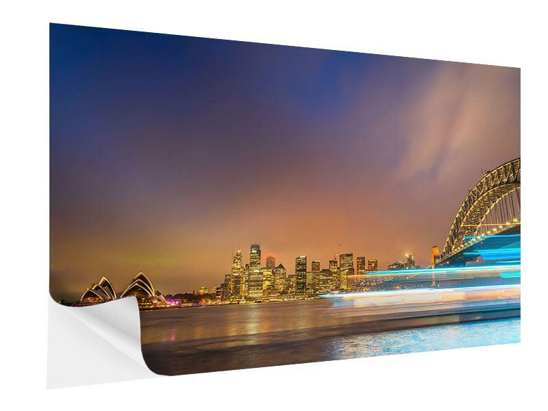 Klebeposter Skyline Opera House in Sydney im Abendlicht