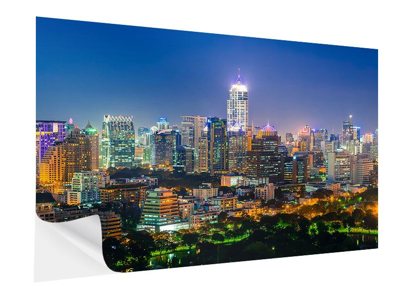 Klebeposter Skyline One Night in Bangkok