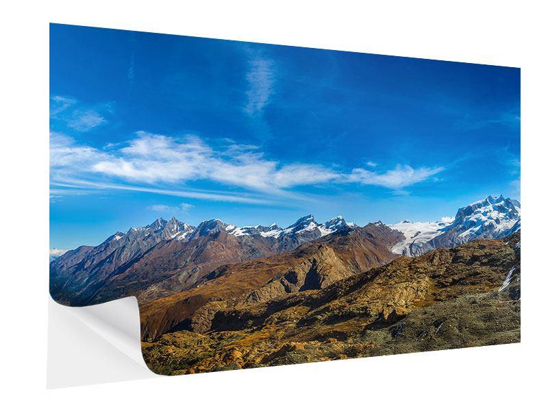 Klebeposter Schweizer Alpen im Frühling