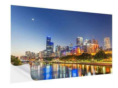 Klebeposter Skyline Sydney in der Abenddämmerung