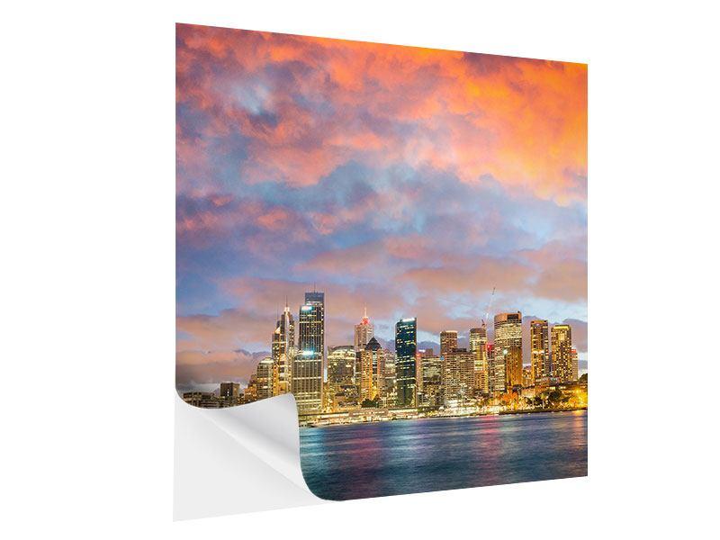 Klebeposter Skyline Das Lichtermeer von Sydney