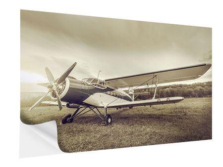 Klebeposter Nostalgisches Flugzeug im Retrostyle