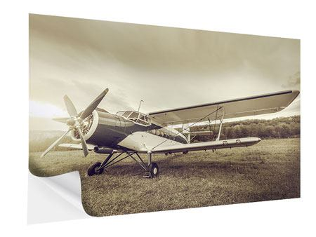 Self-Adhesive Poster Nostalgic Aircraft In Retro Style