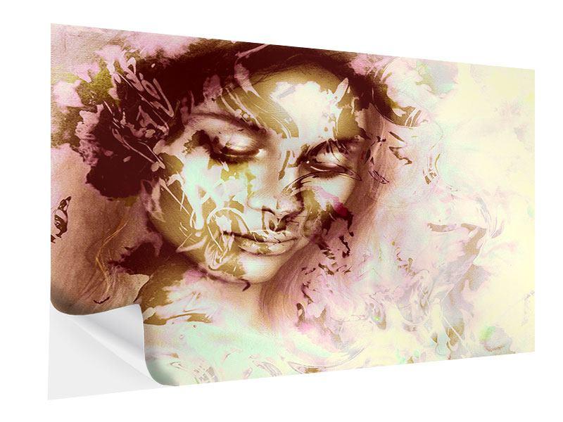 Klebeposter Romantisches Portrait einer Schönheit