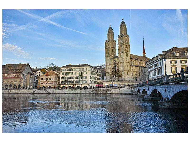 Klebeposter Die Altstadt von Zürich