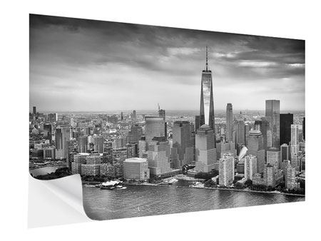 Klebeposter Skyline Schwarzweissfotografie New York