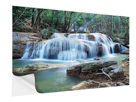 Klebeposter Ein Wasserfall