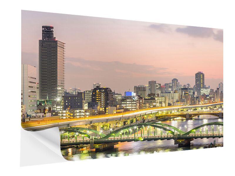 Klebeposter Skyline Das Lichtermeer von Tokio