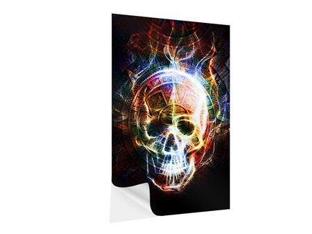 Klebeposter Psychedelic Skull