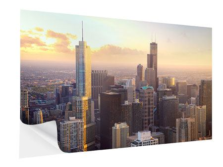 Klebeposter Skyline Chicago