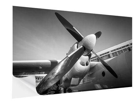 Klebeposter Nostalgisches Flugzeug