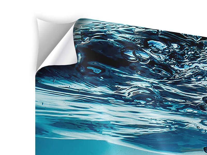 Klebeposter Eiswürfel-Quadro