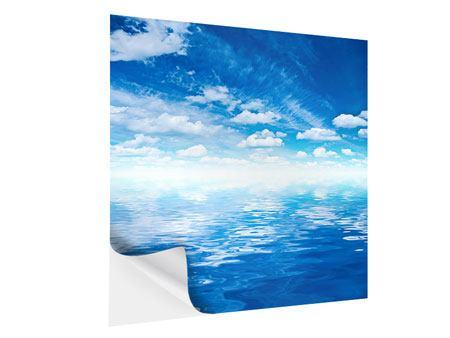 Klebeposter Himmel und Wasser