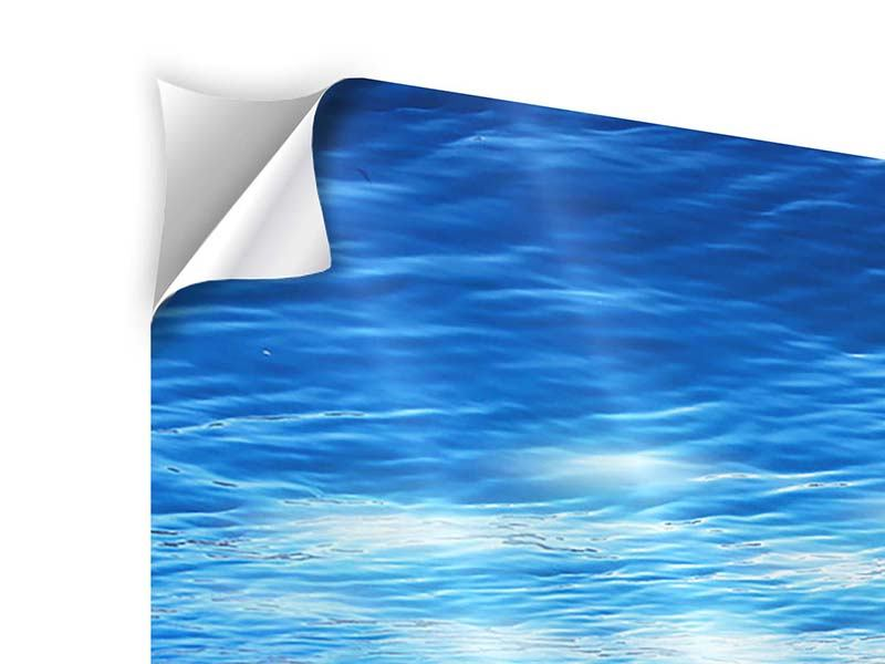 Klebeposter Licht unter Wasser