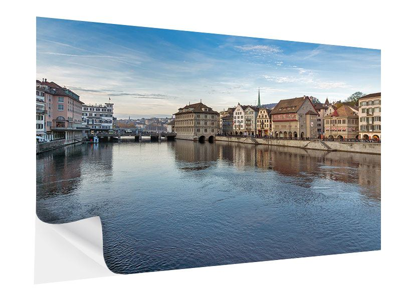 Klebeposter Kosmopolitisches Zürich