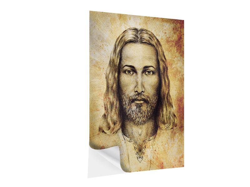 Klebeposter Jesus Gemälde