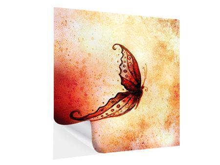 Klebeposter Butterfly Gemälde
