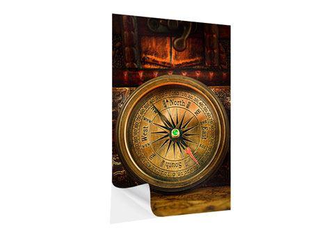 Klebeposter Antiker Kompass