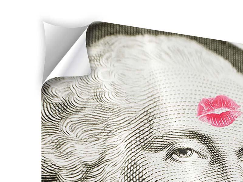 Klebeposter George Washington Banknote