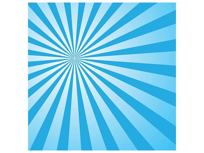 Klebeposter Retrowelle Streifenperspektive