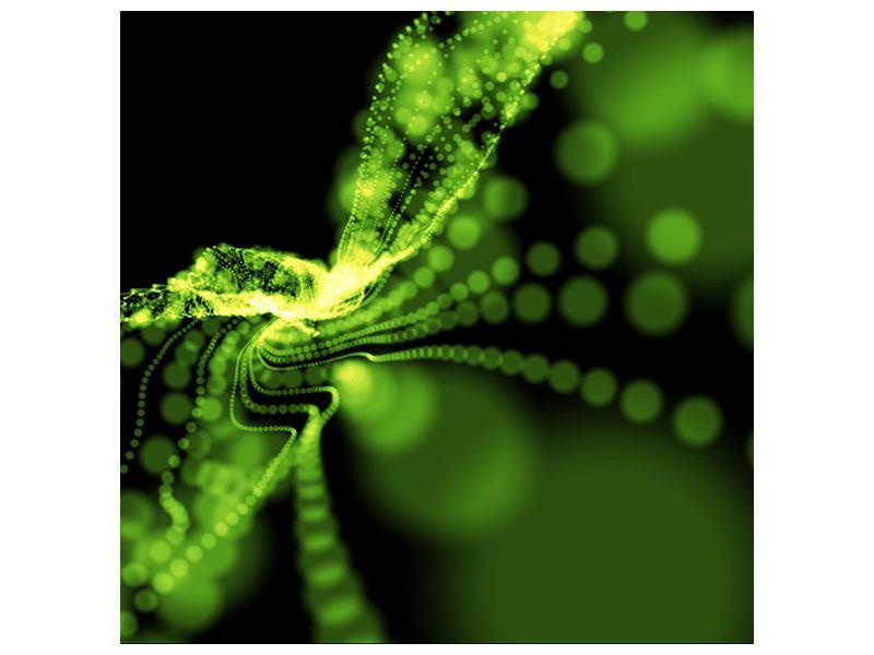 Klebeposter Grünes Lichterspiel