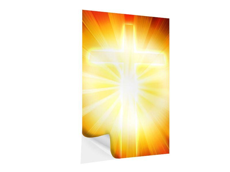 Klebeposter Heiliges Kreuz im Licht