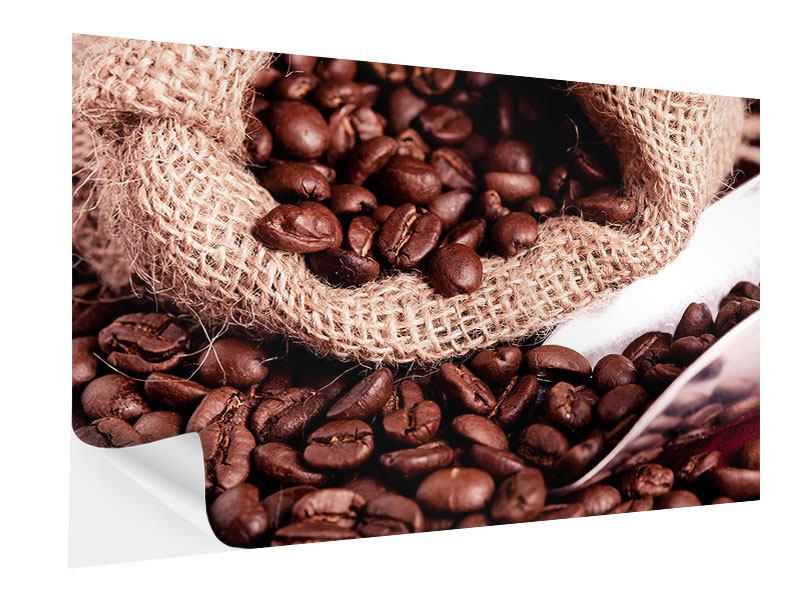 Klebeposter XXL Kaffeebohnen