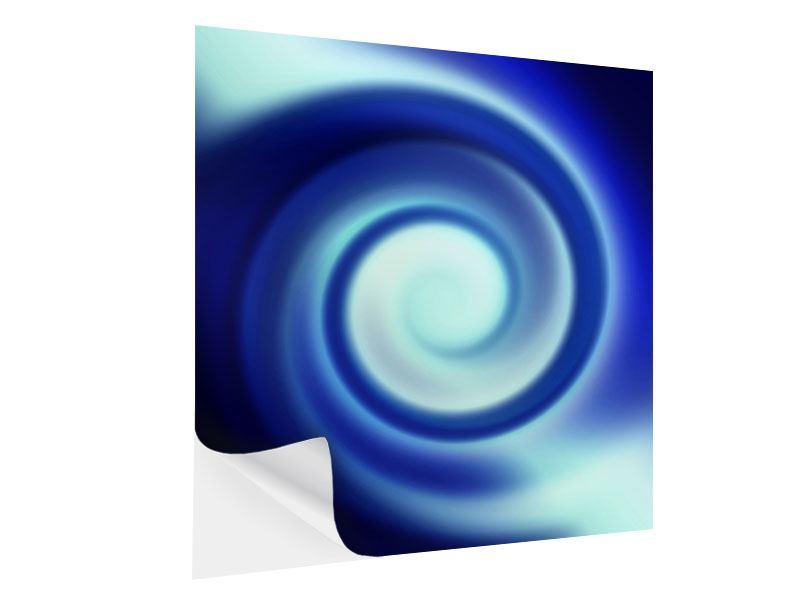 Klebeposter Abstrakte Blaue Wirbel