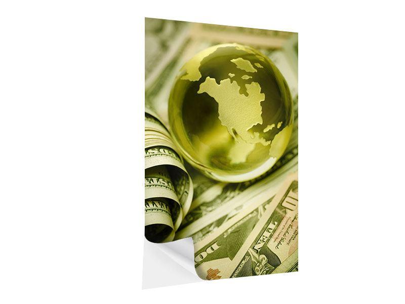 Klebeposter Geld regiert die Welt