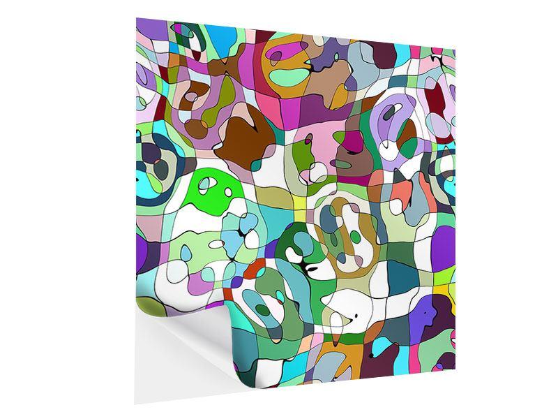 Klebeposter Kubistisches Gemälde
