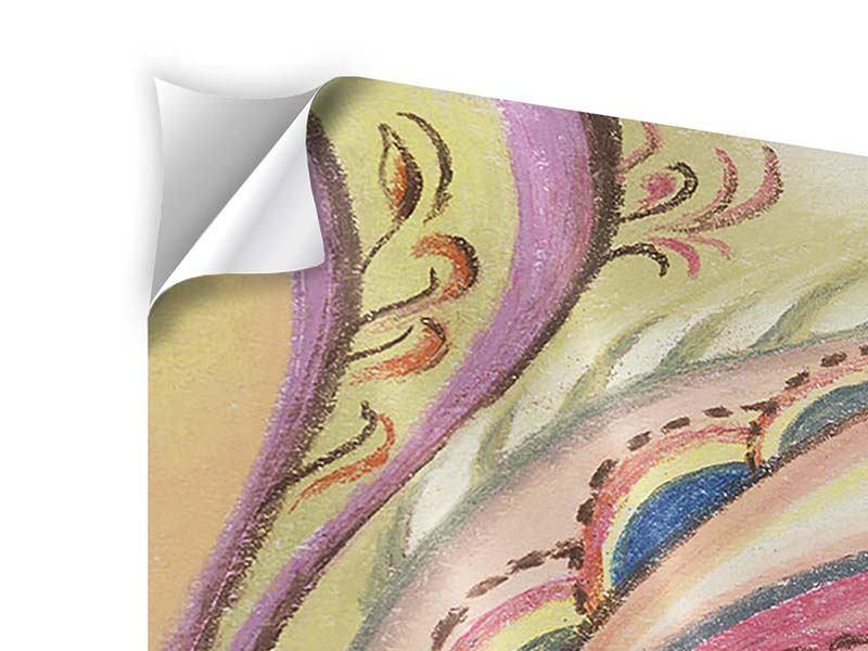 Klebeposter Paisley-Malerei