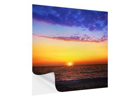 Klebeposter Leuchtender Sonnenuntergang