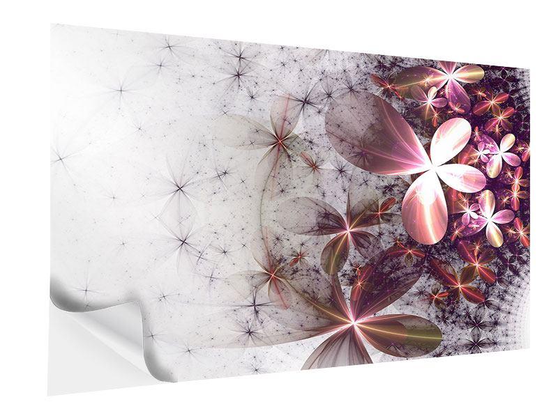 Klebeposter Abstrakte Blumen