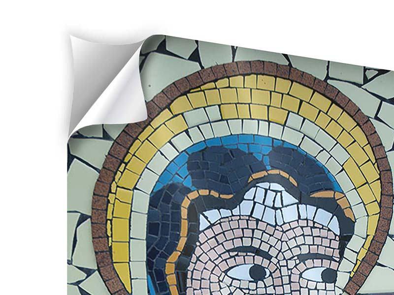 Klebeposter Jungfrau Maria Mosaik