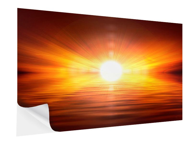 Klebeposter Glühender Sonnenuntergang