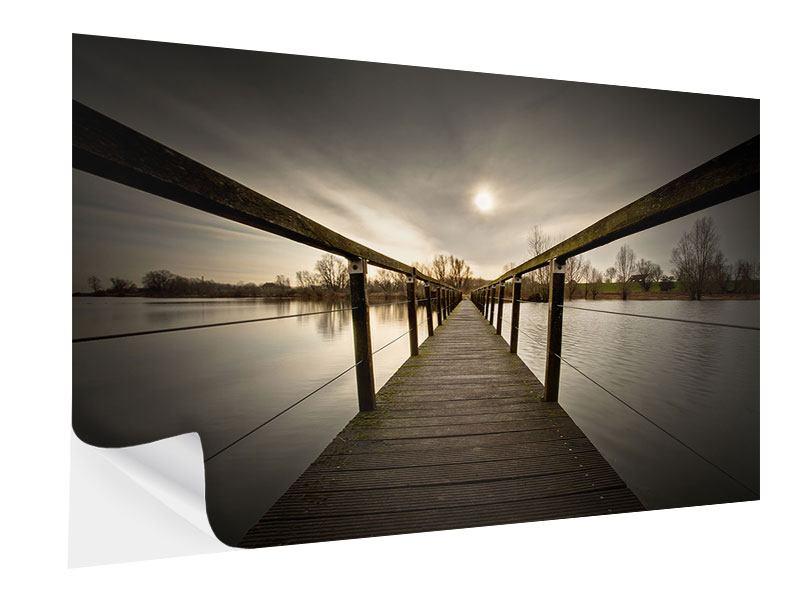 Klebeposter Die Holzbrücke