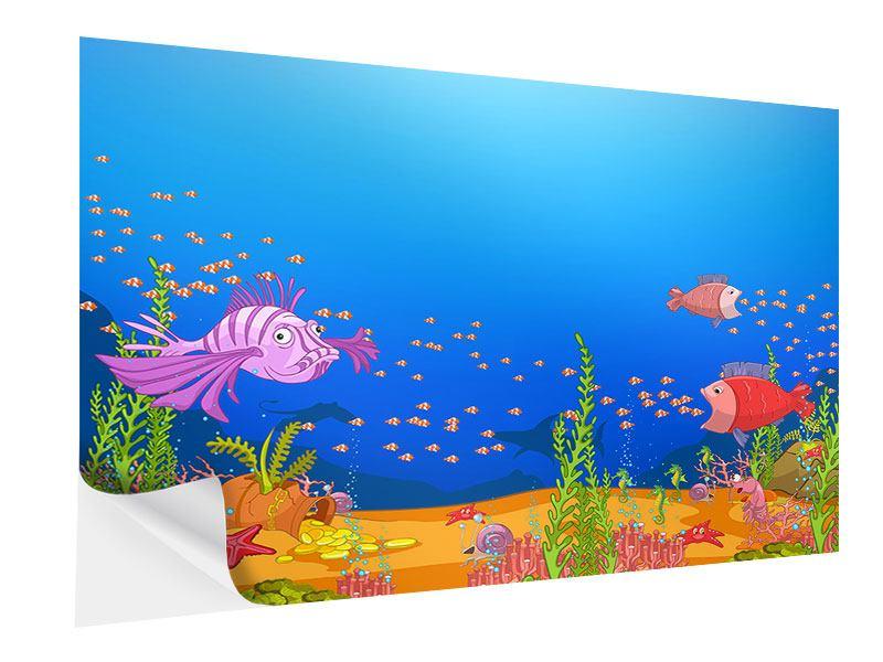 Klebeposter Der Schatz unter Wasser
