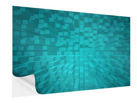 Klebeposter 3D-Kubusse