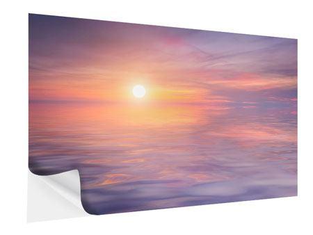 Klebeposter Sonnenuntergang auf See