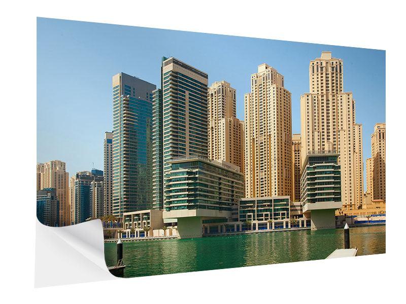 Klebeposter Spektakuläre Wolkenkratzer Dubai