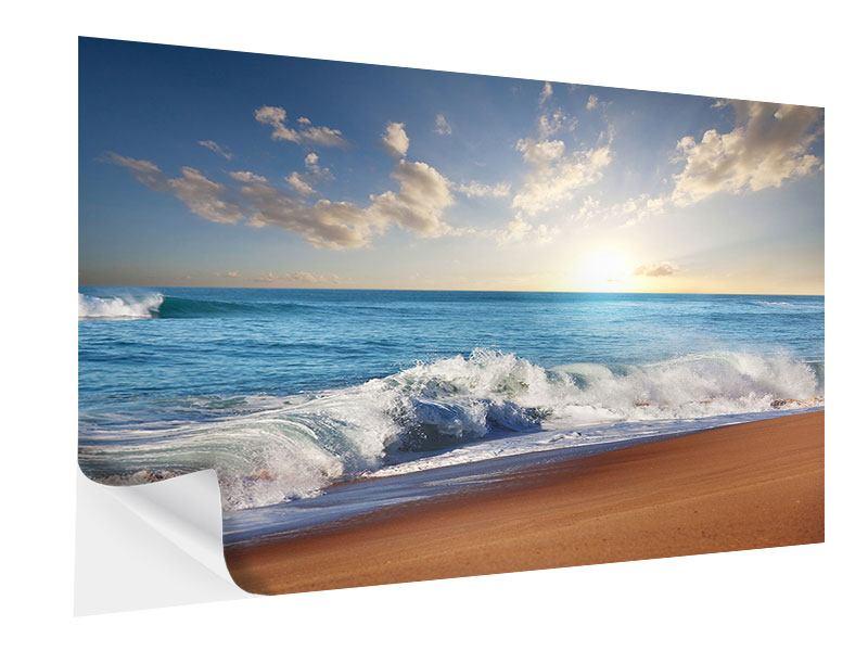 Klebeposter Die Wellen des Meeres