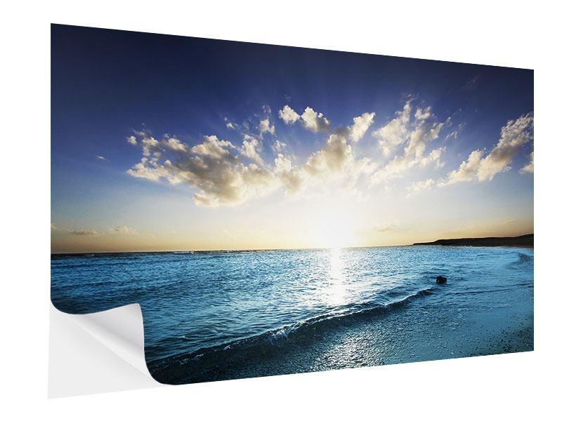Klebeposter Das Meer im Sonnenaufgang