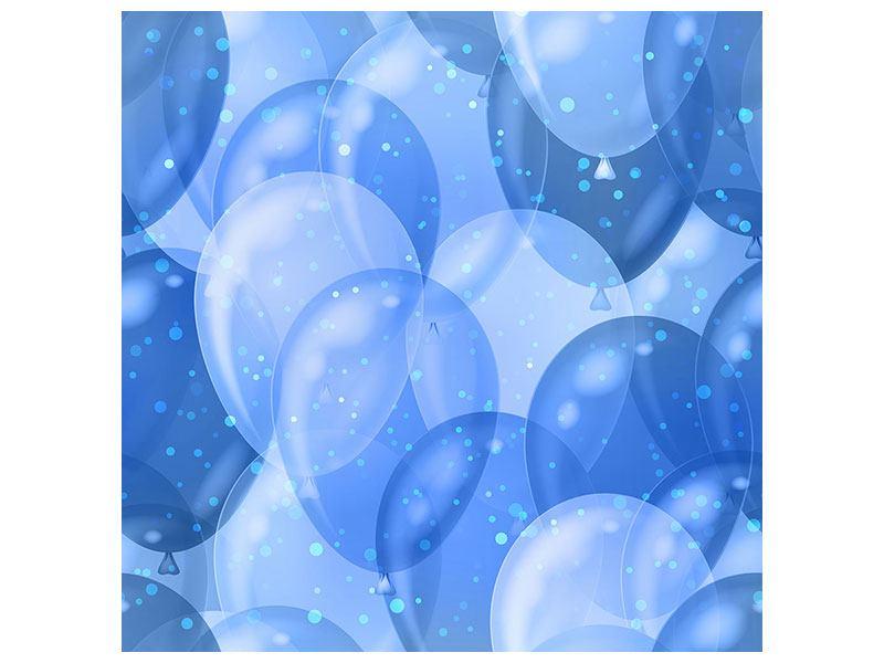 Klebeposter Blaue Ballons