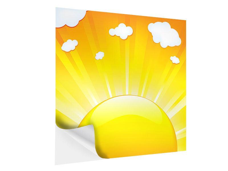 Klebeposter Die Sonne geht auf